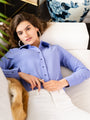 Womens Periwinkle The Signature Shirt 2