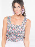 Womens Pink Floral The Peyton Shirt
