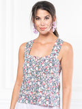 Womens Pink Floral The Peyton Shirt 6