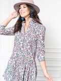 Womens Pink Floral The Drop Waist Shirt Dress
