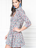 Womens Pink Floral The Drop Waist Shirt Dress 4