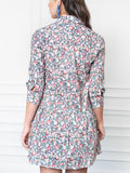 Womens Pink Floral The Drop Waist Shirt Dress 6