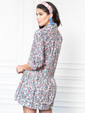 Womens Pink Floral The Drop Waist Shirt Dress 7