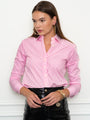 Womens Pink/White The Icon Shirt in Stripe 2