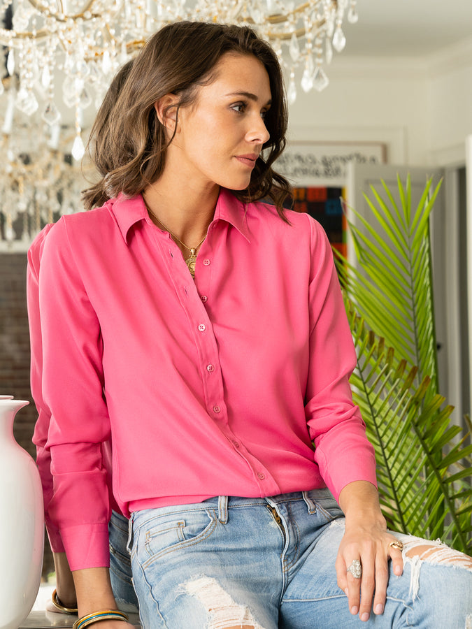 Womens Raspberry The Signature Shirt