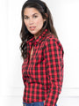 Womens Red Buffalo Tartan The Icon Shirt in Red Buffalo Tartan 2