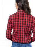 Womens Red Buffalo Tartan The Icon Shirt in Red Buffalo Tartan 4