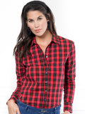 Womens Red Buffalo Tartan The Icon Shirt in Red Buffalo Tartan 6