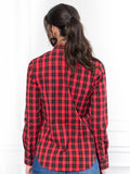 Womens Red Buffalo Tartan The Icon Shirt in Red Buffalo Tartan 7