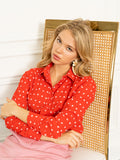 Womens Red w/ White Spots The Signature Shirt 2