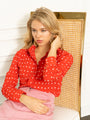Womens Red w/ White Spots The Signature Shirt