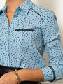 Womens Sea The Signature Shirt in Sea/Polka Dots 2