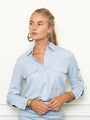 Womens Sky Blue The Signature Shirt with Pockets 2