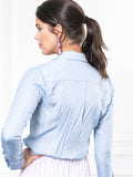 Womens Sky Blue The Signature Shirt with Pockets 7