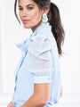 Womens Sky The French Bow Shirt 2