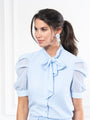 Womens Sky The French Bow Shirt
