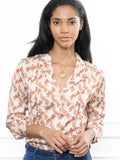 Womens Tan Horse Print The Lounge Shirt