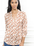 Womens Tan Horse Print The Lounge Shirt 4