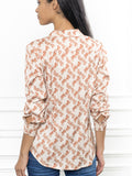 Womens Tan Horse Print The Lounge Shirt 6