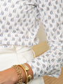 Womens Tan/White The Icon Shirt in Giraffe 2