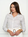 Womens Tan/White The Icon Shirt in Giraffe
