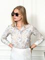 Womens Taupe The Icon Shirt in Hawaiian Print 2