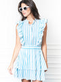 Womens Teal Stripe THE STELLA DRESS