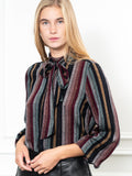 Womens Varadero Stripe The Bow Tie Shirt in Technicolor