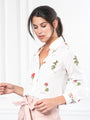 Womens White Botanical Print The Signature Shirt in White Botanical Print 2
