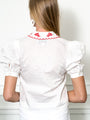 Womens White/Red The Cash Shirt 2