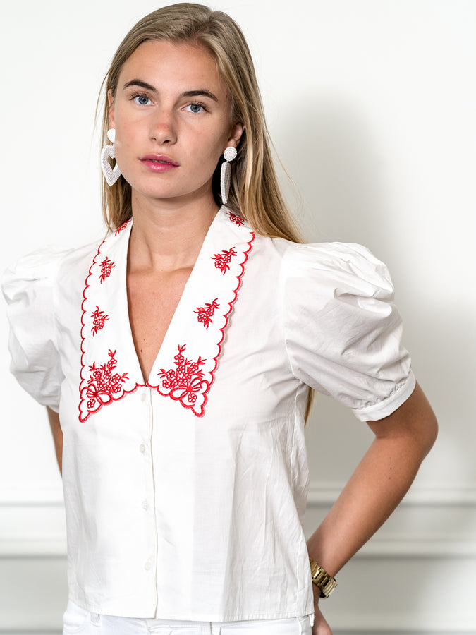 Womens White/Red The Cash Shirt