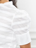Womens White/White The Short Sleeve Puffed Shoulder Shirt 2