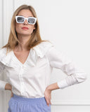 Womens White The Amalia Shirt