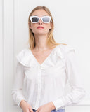 Womens White The Amalia Shirt 4
