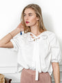 Womens White The Antoinette Shirt 2