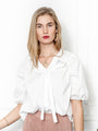 Womens White The Antoinette Shirt