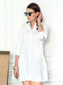 Womens White The Drop Waist Shirt Dress 2