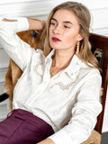 Womens White The Icon Shirt with Embroidery 4