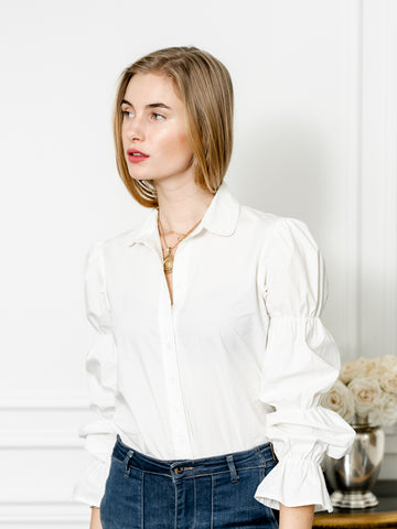 Womens White The Juliet Shirt