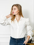 Womens White The Juliet Shirt 6