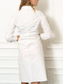 Womens White The Ruched Shirtdress 2