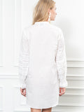 Womens White The Isabel Shirt Dress 6