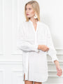 Womens White The Isabel Shirt Dress