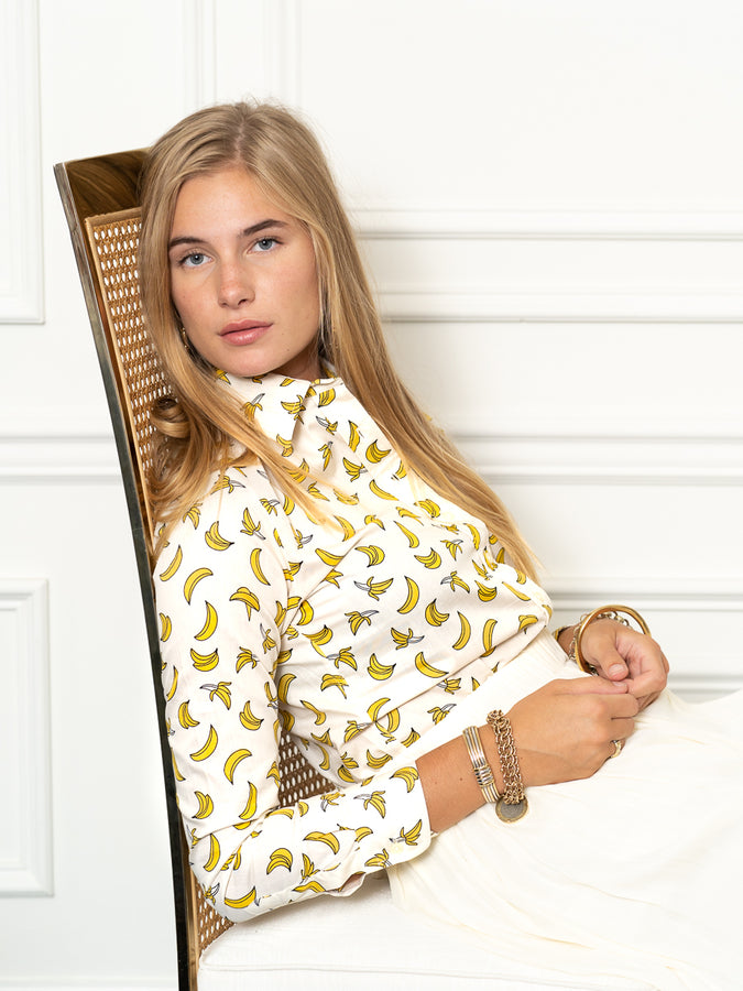 Womens Yellow/White The Icon Shirt in Banana