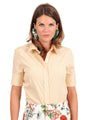 Womens Yellow/White The Short Sleeve Shirt 2