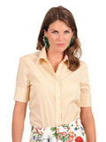 Womens Yellow/White The Short Sleeve Shirt 4
