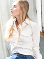 Womens winter white The (Vegan) Leather Shirt 2