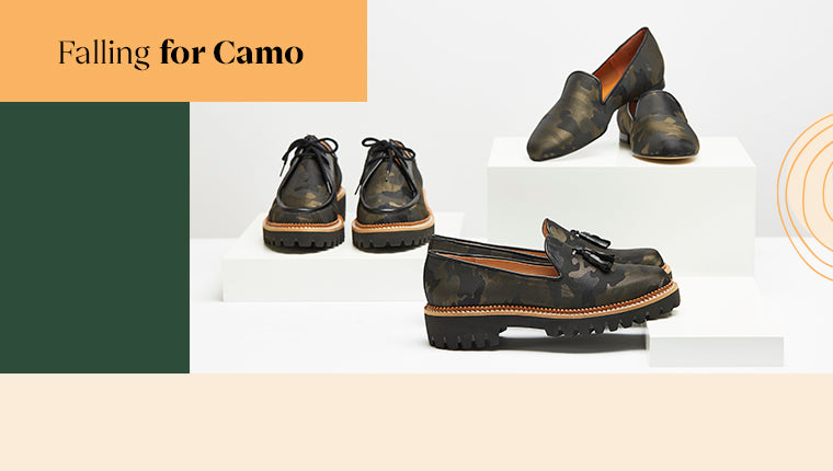Comfortable Camo Loafers, and flats from Jon Josef