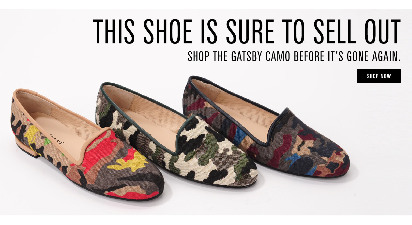 this shoe is sure to sell out. shop the gatsby camo.