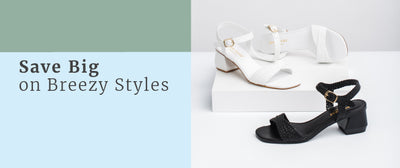 Black and White Woven Sandals 40% Off